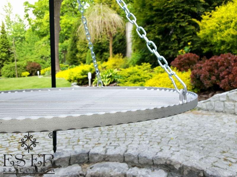 Grill ogrodowy na trójnogu PIOTR z rusztem stalowym 70 cm ES-ER zdjęcie 5