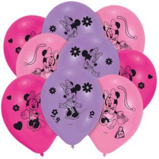 """Balony """"Minie Mouse"""", mix pink, AMSCAN, 10"""", 10 szt"""