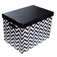PEPCO - Zestaw 2 pudełek kartonowych czarno białe