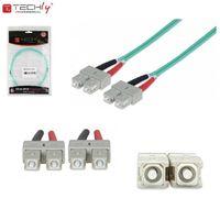 Światłowód krosowy TechlyPro SC-SC duplex 50/125 OM3, MM 5m ILWL D5-B-050/OM3