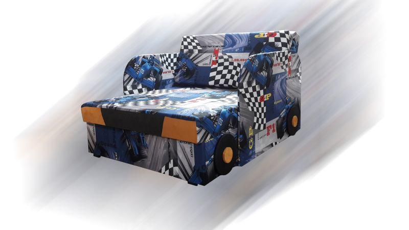 Łóżko, fotel , tapczanik dziecięcy z pojemnikiem na pościel zdjęcie 4
