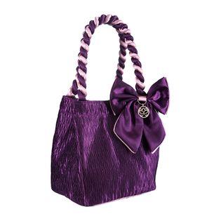 Kosmetyczka podróżna satynowa STELLA w kolorze fioletowym