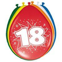 Balony gumowe na 18 URODZINY odwrotne 30 cm, 8 szt