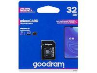 Karta microSDHC 32GB + adapter SD Goodram CL10