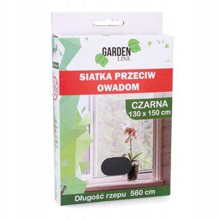 Moskitiera do okna siatka CZARNA 150 x 130 cm