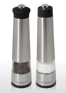 Młynek ELDOM ZMP4   ZESTAW  2 młynków elektrycznych do soli i pieprzu