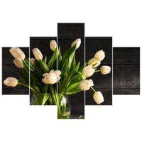 OBRAZ DRUKOWANY  Kremowe tulipany 100x70
