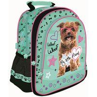 Plecak szkolny dla dziewczynki My Little Friend - piesek w okularach