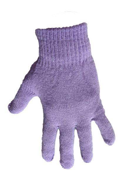 1 Kiddy rękawiczki 5-palczaste jednokolorowe fioletowe zdjęcie 1