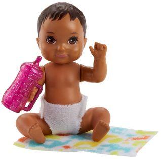 Barbie lalka niemowlak Skipper bobas brunet + akcesoria