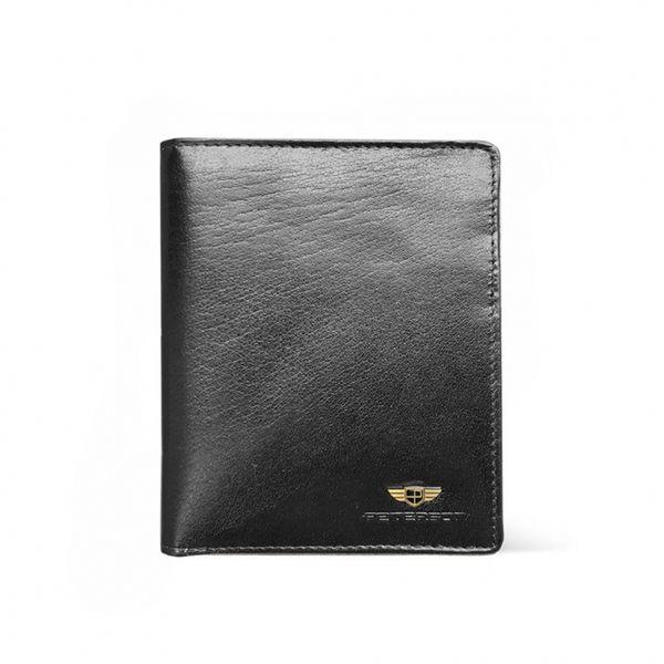 Skórzany portfel męski Peterson, RFID, czarny zdjęcie 1