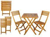 Meble Balkonowe Ogrodowe Drewniane Składane stół 2 krzesła 5099
