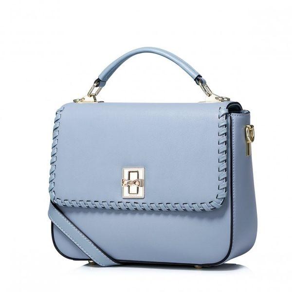 77796e06356ba Nucelle kobieca szykowna torebka ze skóry naturalnej Niebieska zdjęcie 1