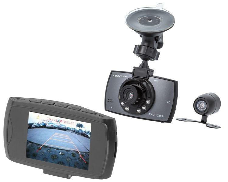 Rejstrator jazdy kamera samochodowa Forever z kamerą cofania FHD na Arena.pl