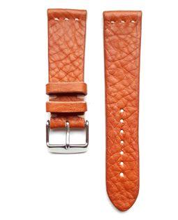 Pasek do zegarka 22mm skóra jasno brązowy- krokodyl - polskie - Lamato