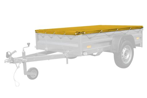 Żółty pokrowiec płaski 200x125 do przyczepy Garden 205