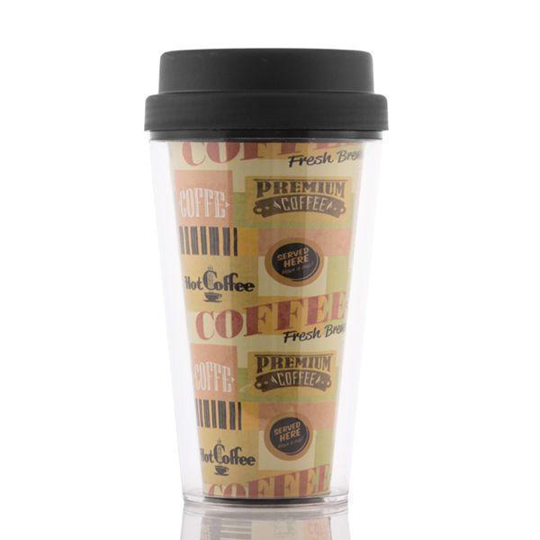 Kubek do kawy z pokrywką i podwójną ścianką zdjęcie 3