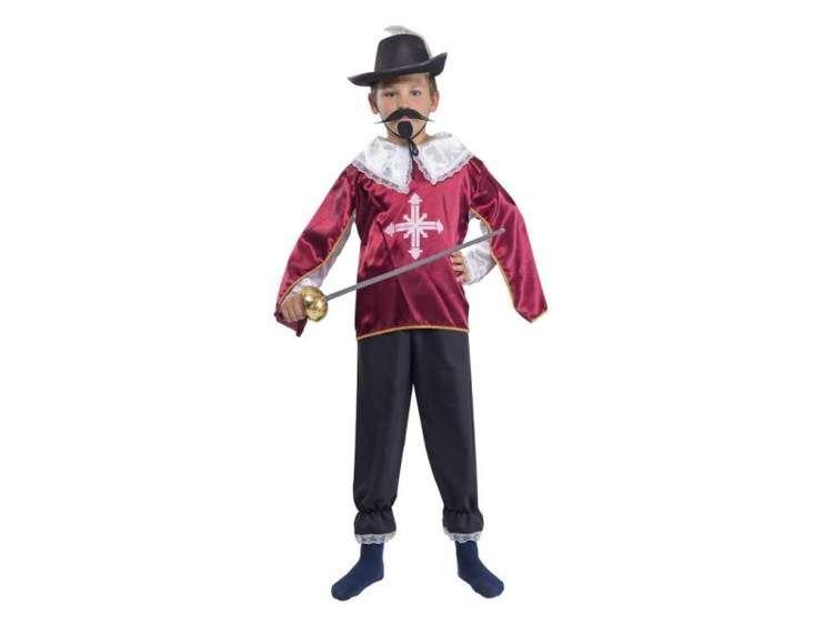 691bb929c5d17d Muszkieter bordowy kostium i przebranie dla dzieci • Arena.pl