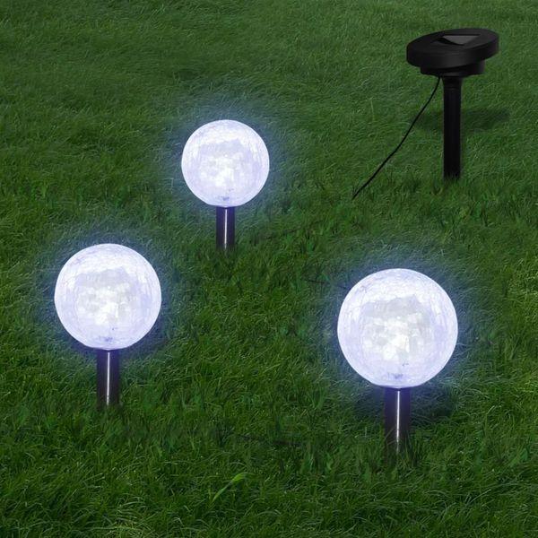 Lampy ogrodowe LED (3szt) z panelem solarnym zdjęcie 1