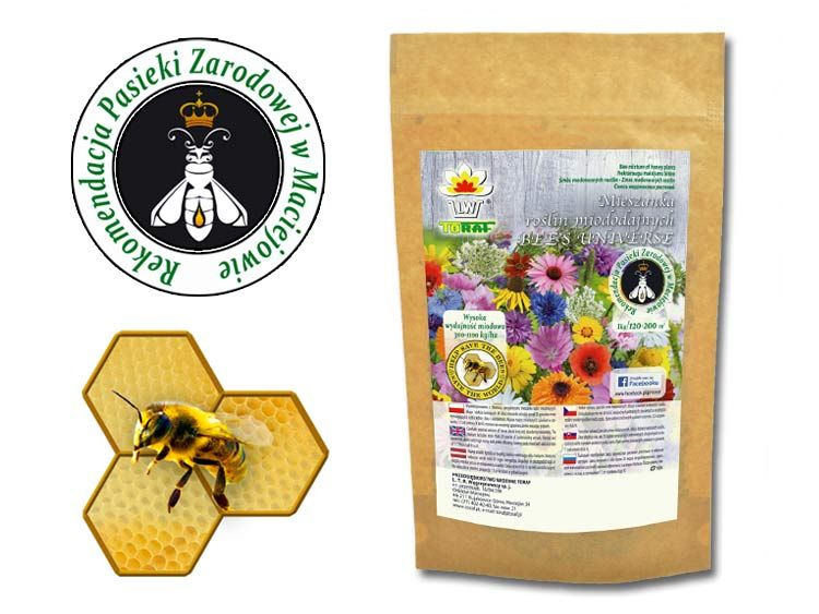 Nasiona Mieszanka roślin miododajnych Bee's Universe 1kg zdjęcie 1