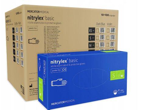 Rękawice nitrylowe nitrylex basic S karton 10 x 100 szt na Arena.pl