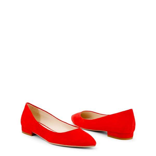 Made in Italia skórzane buty damskie baleriny czerwony 39