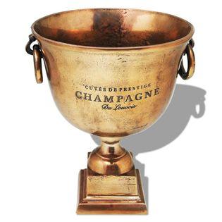 Lumarko Wiaderko na szampana w kształcie pucharu, miedziane, brązowe