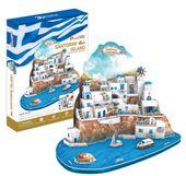 PUZZLE 3D Wyspa Santorini Santoryn duży zestaw XL CubicFun 129 el.