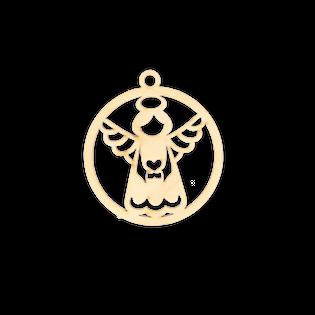D706 Świąteczna zawieszka bombka z ozdobnym aniołem