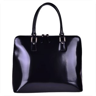 Vezze torebka-aktówka shopper bag czarna XL bardzo pojemna