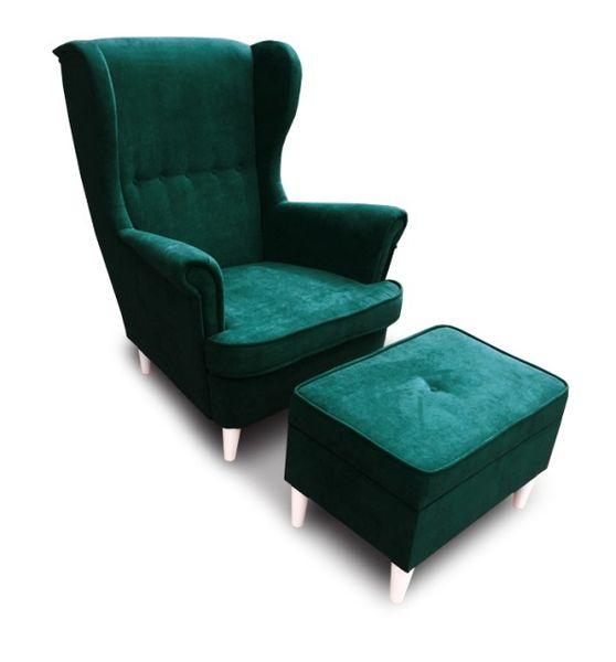 Fotel Uszak CHRIS  z podnóżkiem otwieranym zdjęcie 1