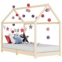 Rama łóżka dziecięcego, lite drewno sosnowe, 90 x 200 cm