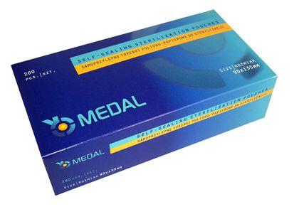 Torebki do sterylizacji 90 x 135 Medal 200 sztuk