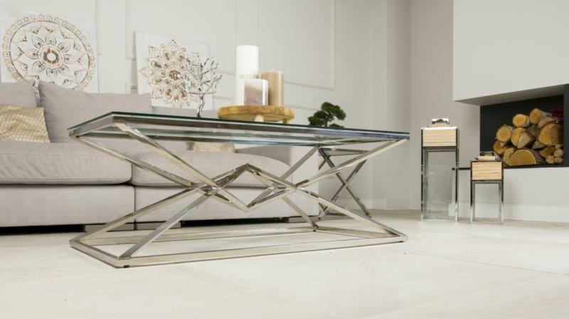 Stolik kawowy ława stół blat szkło hartowane zdjęcie 10