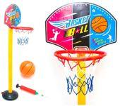 Mobilny Zestaw do koszykówki dla dzieci Piłka Pompka U14