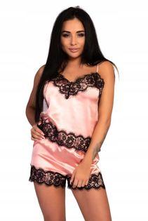 Satynowa piżama Serranin L/XL spodenki KORONKA