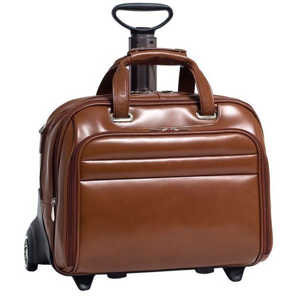 4009320b6dd84 Brązowa skórzana torba podróżna McKlein Midway 17