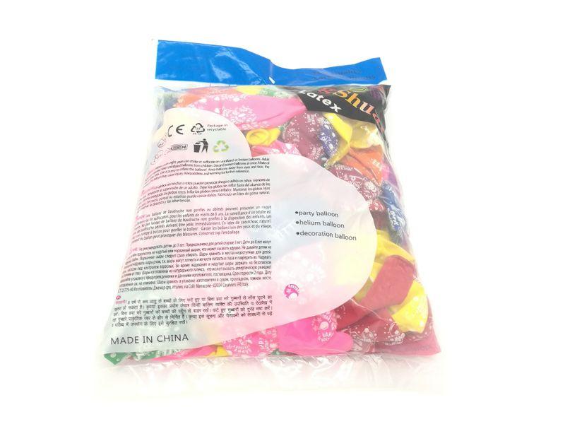 Balony lateksowe kolorowe, pastelowe na urodziny 100 szt. zdjęcie 3