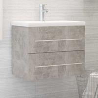 Lumarko Szafka pod umywalkę, szarość betonu, 60x38,5x48 cm, płyta!