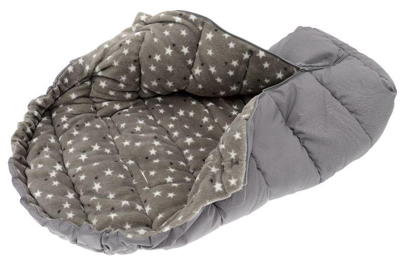 ŚPIWOREK DO WÓZKA SANEK Śpiwór Ocieplany 4w1 solid grey zdjęcie 1