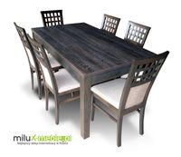 Stół i krzesła, krzesło, jadalnia, pokój, salon, dąb canterbury