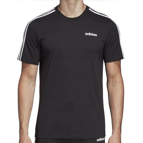 Koszulka męska adidas Essentials 3 Stripes Tee czarna DQ3113 XL zdjęcie 3