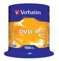 DVD-R VERBATIM 4.7GB X16 MATT SILVER (100 CAKE)