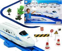 Pociąg Kolejka elektryczna Pendolino tory akcesoria znaki drogowe U197