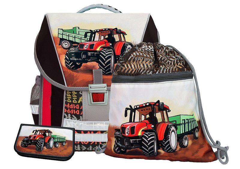 9c25c52a88555 Plecak szkolny firmy EMIPO w zestawie: tornister Traktor+piórnik+worek  zdjęcie 1