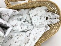 Komplet z tkaniny 100% bawełnianej premium - Owieczki z velvetem