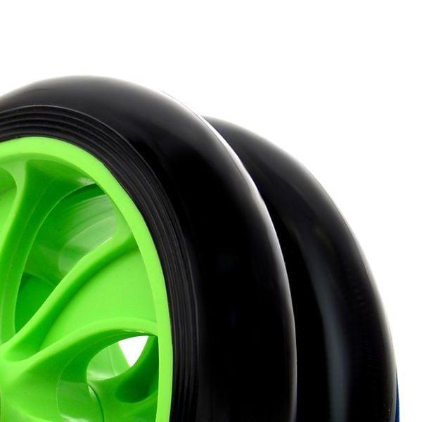 Podwójne Kółko do ćwiczeń roller zielony zdjęcie 4