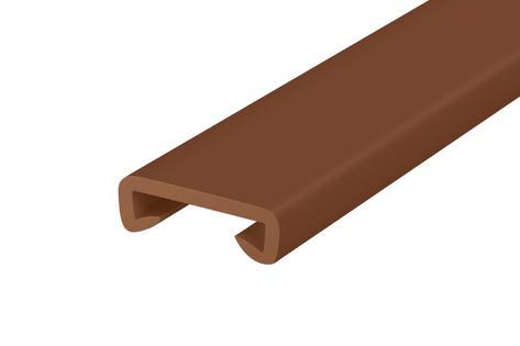 Listwa poręczowa PCV STANDARD, poręczówka 40x8 mm  brąz 1mb