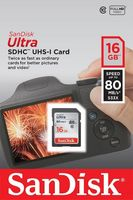 Karta Pamięci SD Sandisk Ultra SDHC 80MB/s 16GB