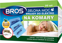 Bros Zielona Moc - Wkłady Do Elektrofumigatora  Na Komary - 20 Sztuk